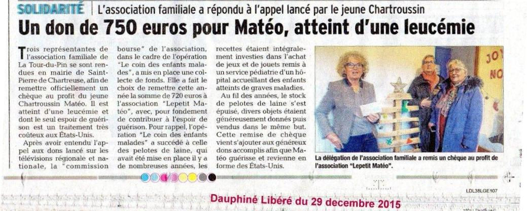article DL action pour Matéo
