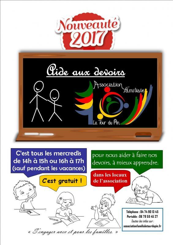 Affiche aide aux devoirs 2017