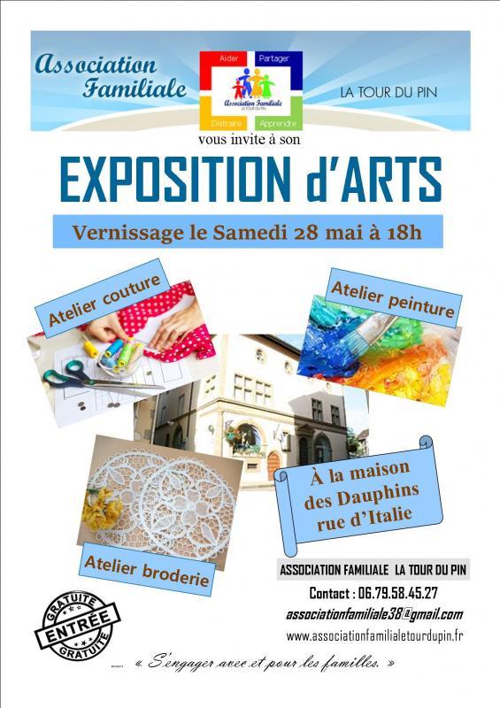 Affiche exposition arts