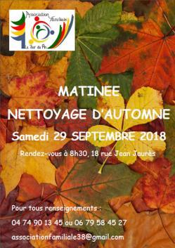Affiche nettoyage d automne 29 09 2018 n 2