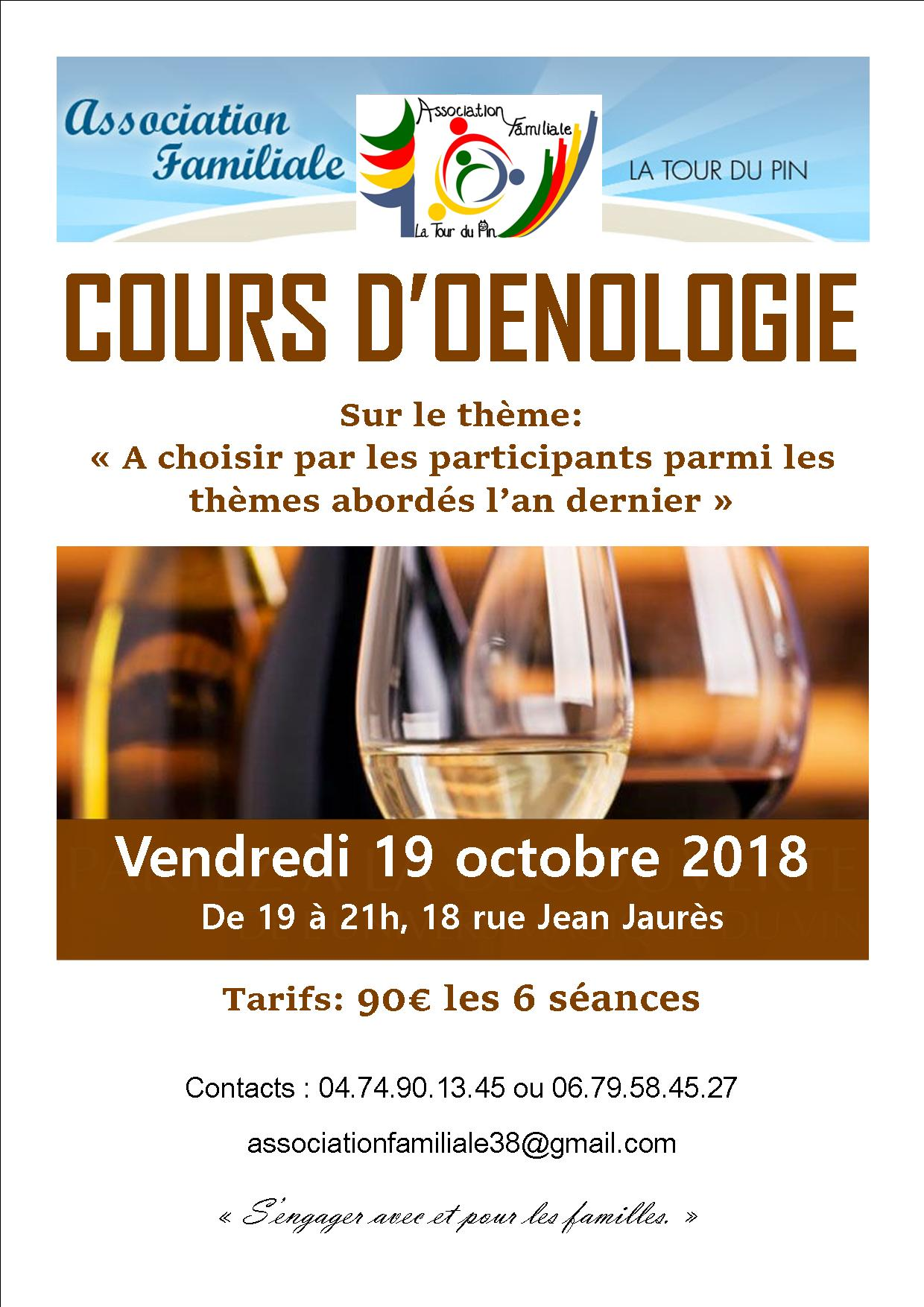 Initiation à l'oenologie