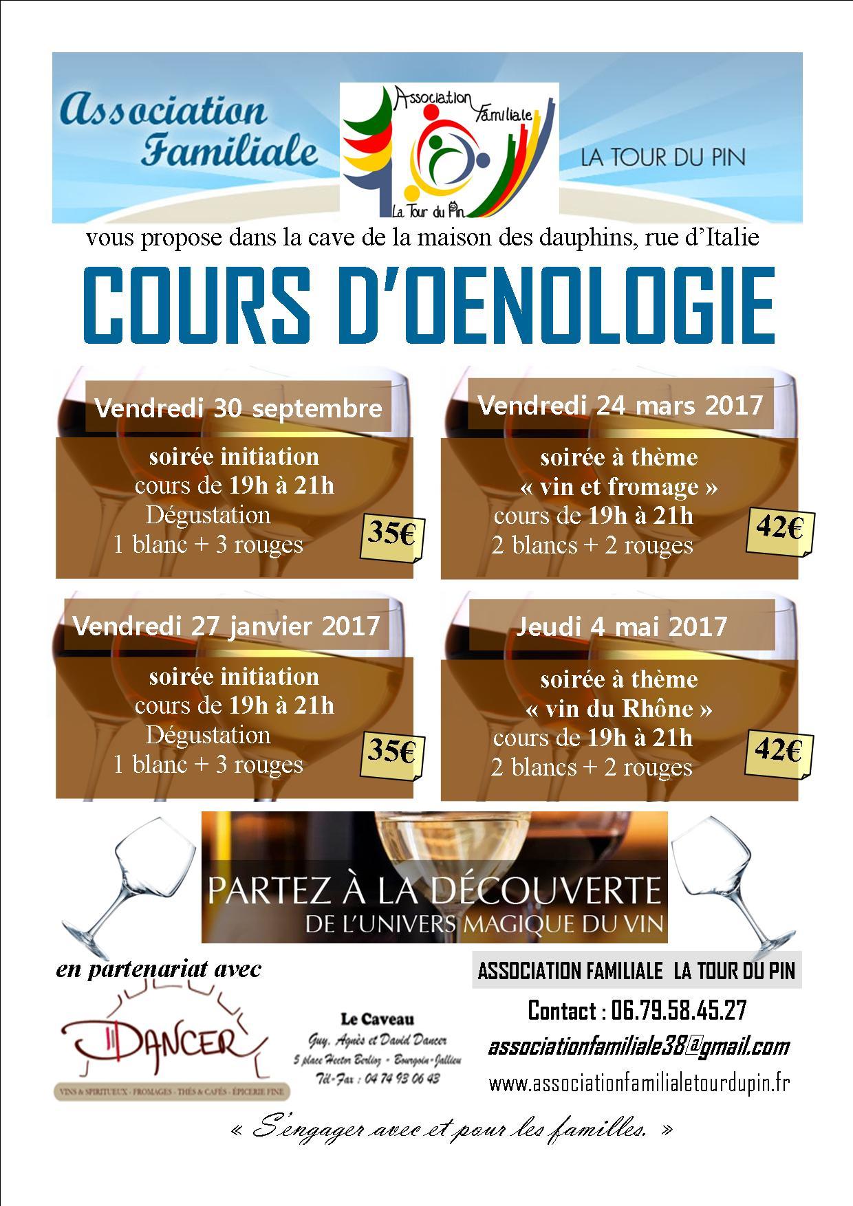 Affiche oenologie planning 2