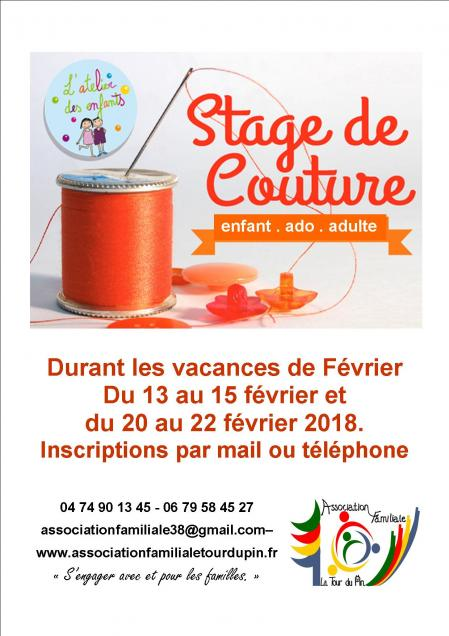 Affiche stage couture fevrier 2018 steph n 3