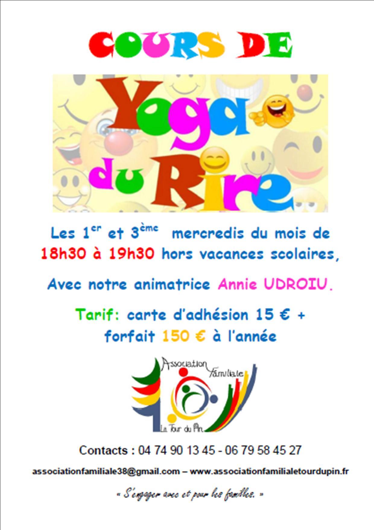 Affiche yoga du rire 2018 2019