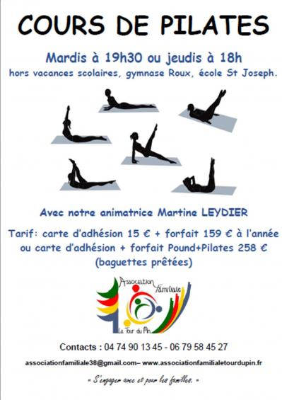 Pilates 2018 2019 des la rentree